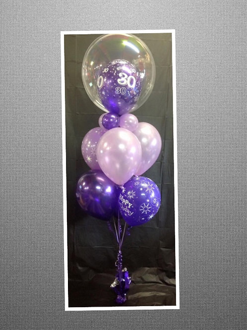 Two Toned Bubble Balloon Bouquet