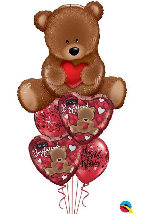 To My Boyfriend/Girlfriend Teddy Bear Balloon Bouquet