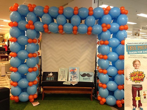 Linking Square Balloon Arch