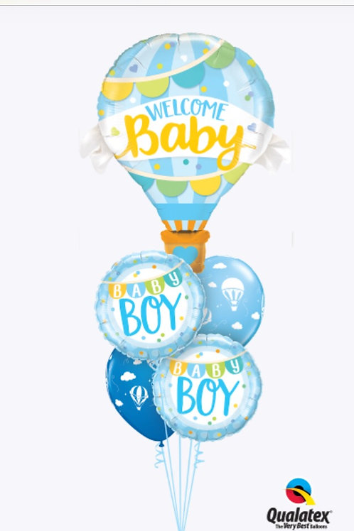 Welcome Baby Boy Hot Air Balloon Bouquet