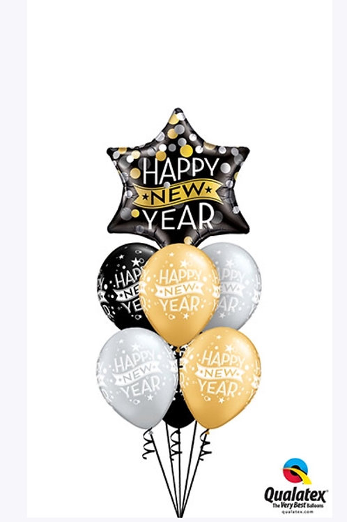 Happy New Year Balloon Bouquet