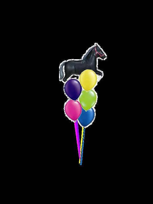 Horse Balloon Bouquet Medium