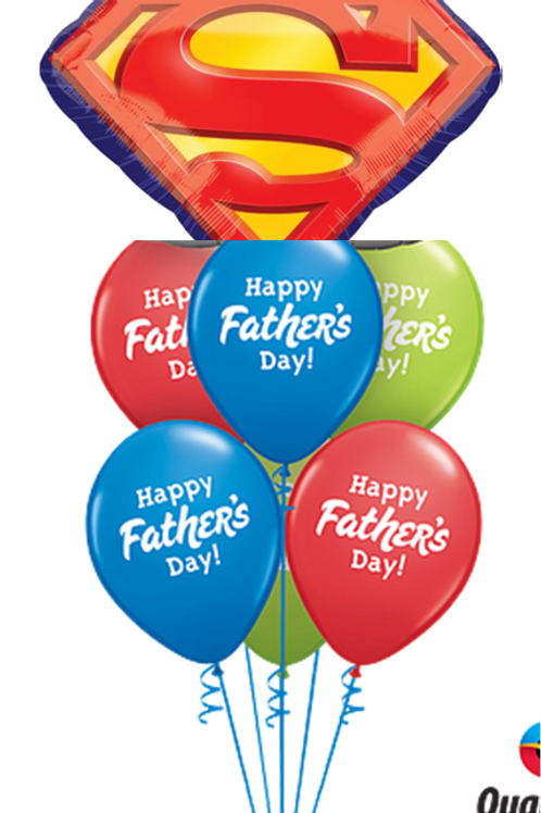 Father's Day Superman Balloon Bouquet