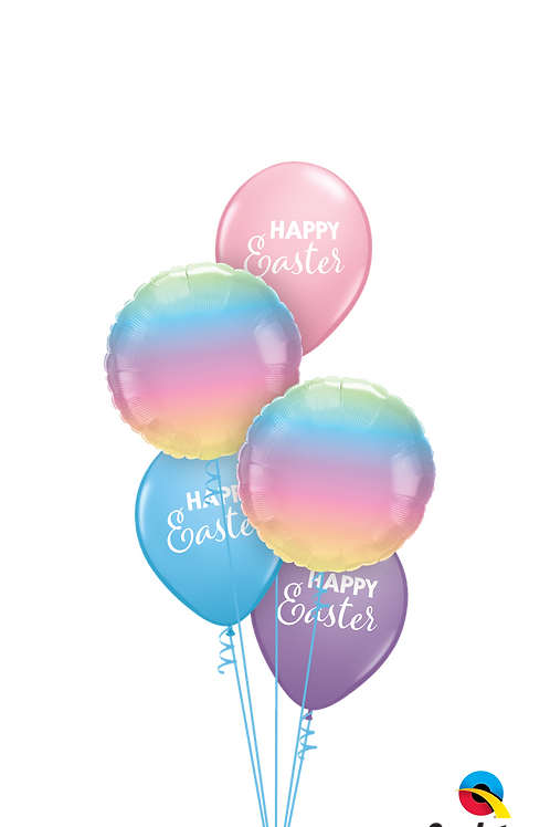 Happy Easter Ombre Balloon Bouquet