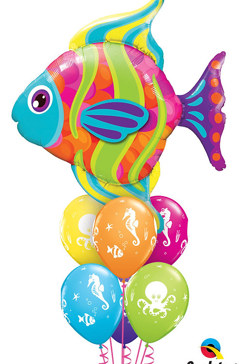 Under the Sea Fish Helium Balloon Bouquet