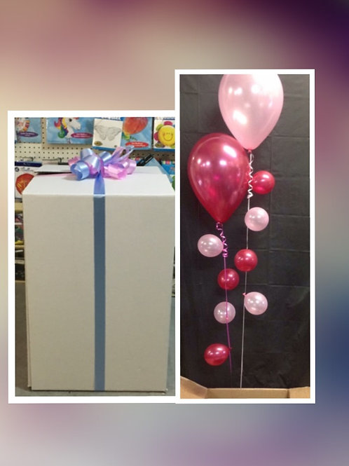 Gender Reveal Balloons in a box
