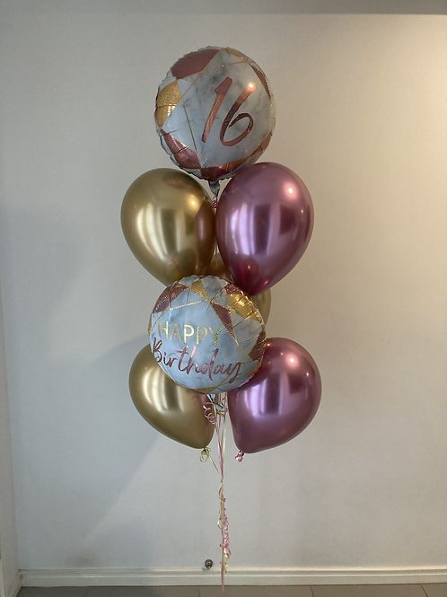 Marble and Chromes Birthday Bouquet