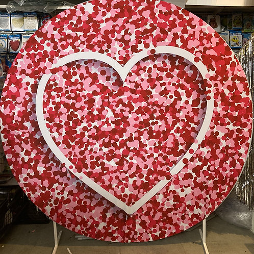 Heart Design Circle Backdrop Hire