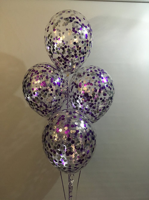Large Confetti Balloon Bouquet