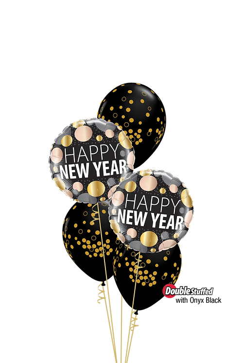 Sparkling New Year Confettti Balloon Bouquet