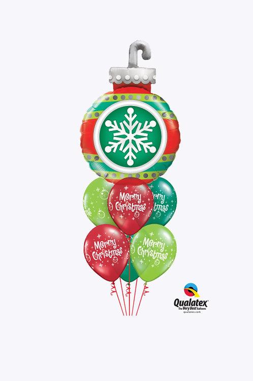 Snowflake Ornament Balloon Bouquet
