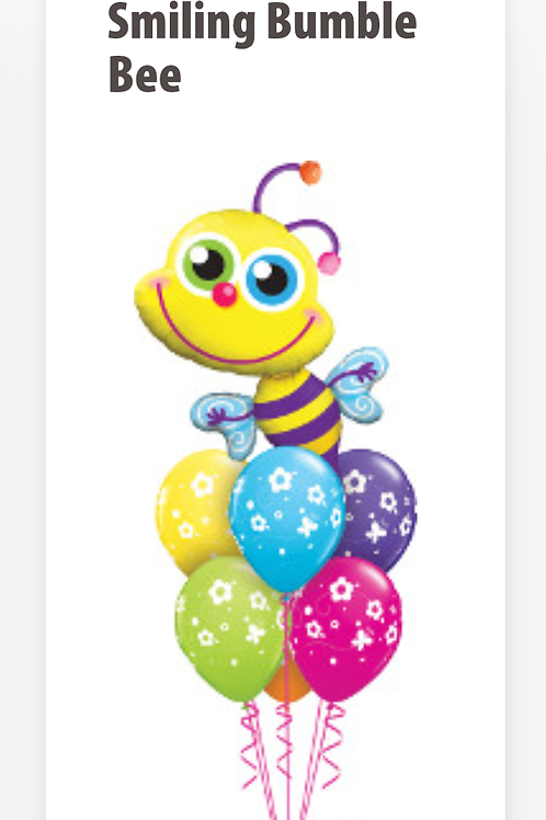 Smiling Bumble Bee Balloon Bouquet