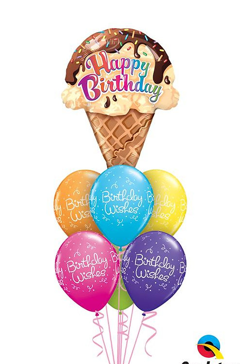 Ice Cream Wishes Balloon Bouquet