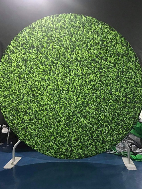 Greenery Design Circle Backdrop Hire