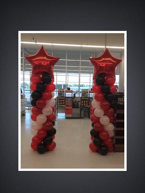Balloon Star Columns.