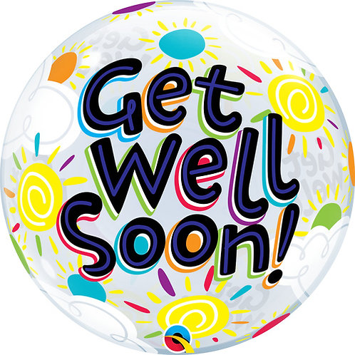 Get Well Balloon in a Box Surprise