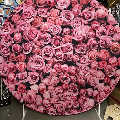 Rose Design Circle Backdrop Hire
