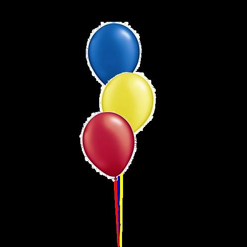 Bunch of 3 Helium Balloons - Table Display
