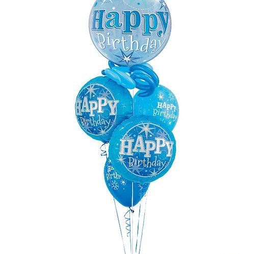 Blue or Pink Sparkle Birthday Bouquet