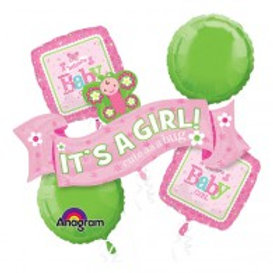 It's a Girl Welcome Baby Balloon Bouquet