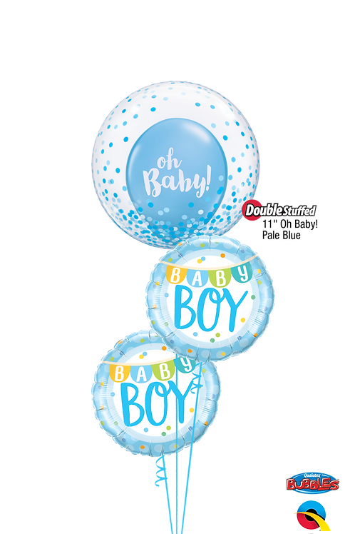 "Blue ""Oh Baby"" Boy Balloon Bouquet"