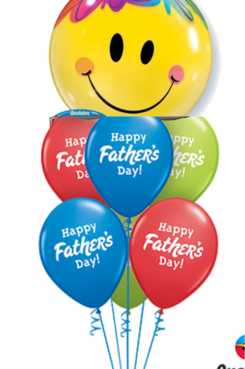 Smiley Face Father's Day Balloon Bouquet