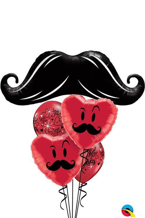 Moustache Love Balloon Bouquet