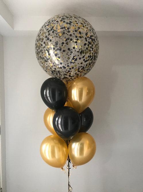 Jumbo Confetti Topper Balloon Bouquet
