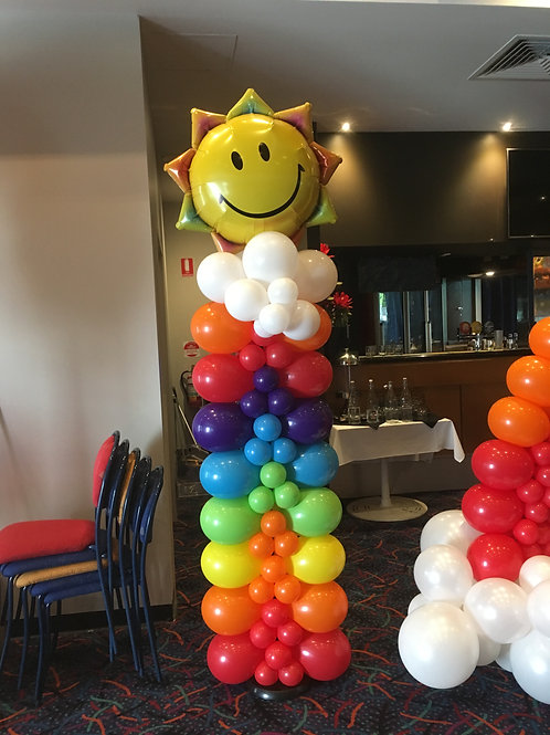 Rainbow Balloon Column