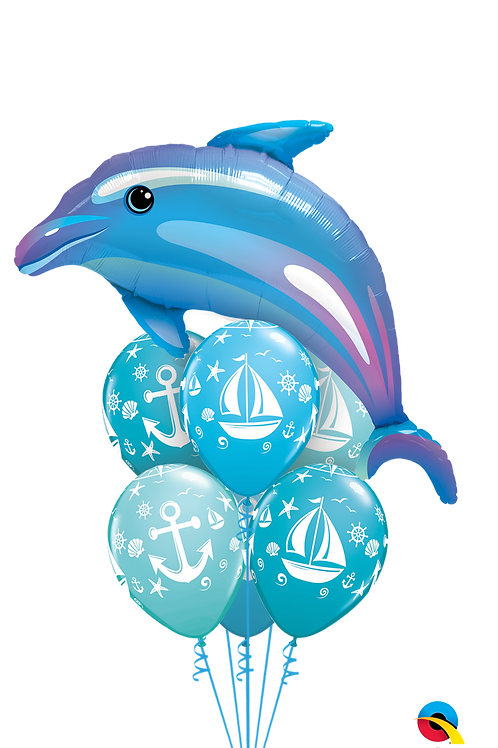 Dolphin and Nautical Balloon Bouquet