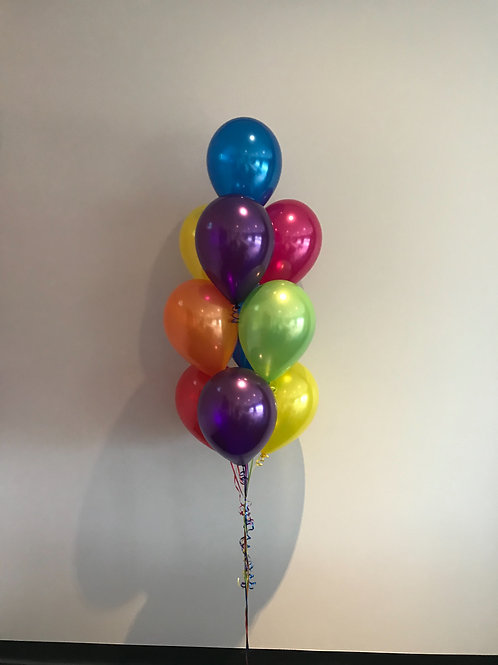 Bunch of 10 Helium Balloons- Floor Display