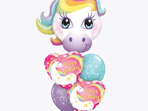 Unicorn Sparkling Stars and Rainbows Birthday Bouquet