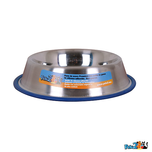Plato de acero premium con anillo de silicona adherido