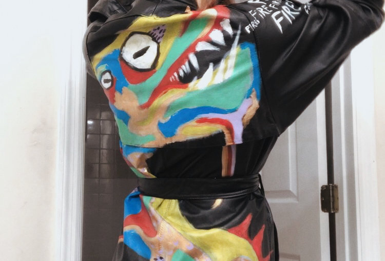 """""""So Fire"""" Dragon Trench Coat Unisex (Size M)"""
