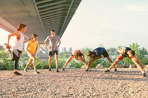 Gruppe Workout