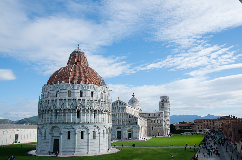 The newly dubbed Piazza dei Miracoli
