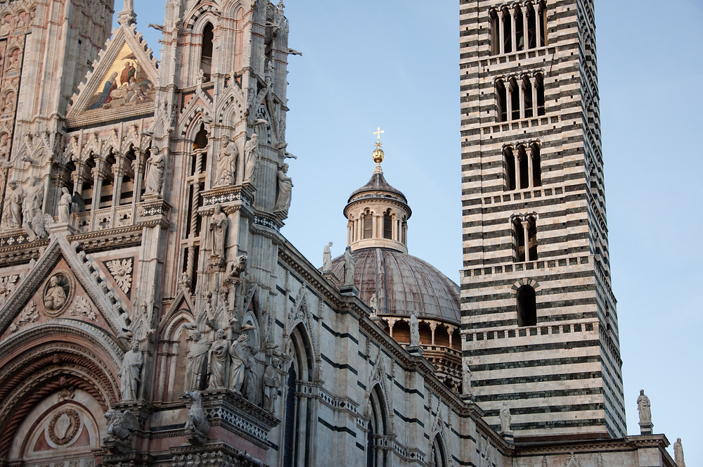 The exterior of Siena Cathedral