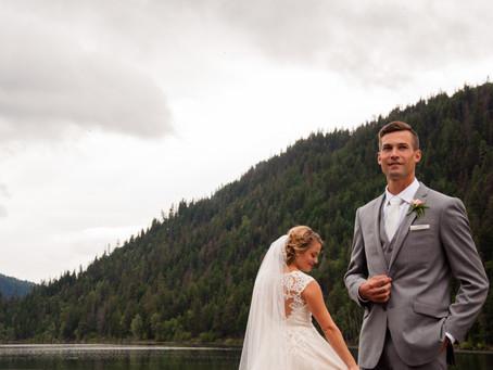 A Little Rain Interference Never Hurt Anybody... A Private Lakeside Wedding Near Merritt BC