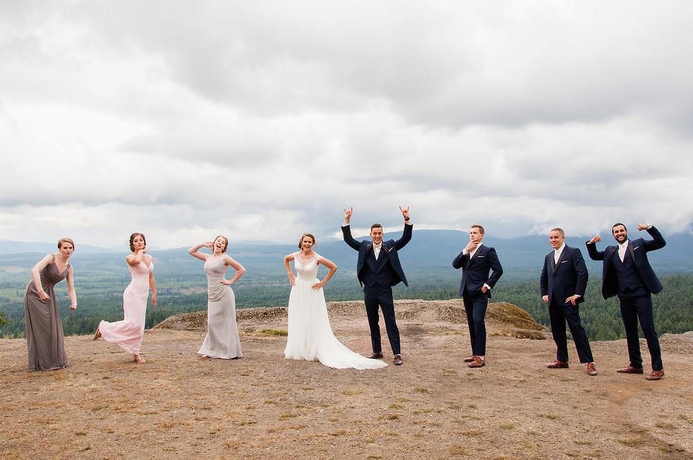 Wedding Part Photos on Little Mountin
