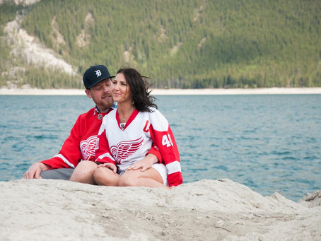 Kaitie & Kyle's Engagement Session in Banff