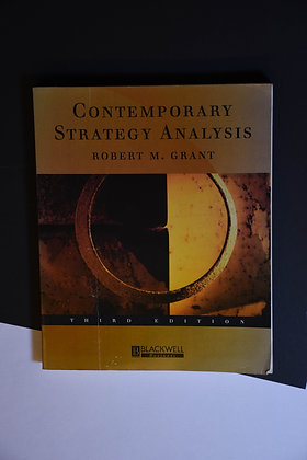Contemporary Strategy Analysis - Robert M. Grant