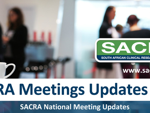 2019 SACRA Meetings Coming Up.