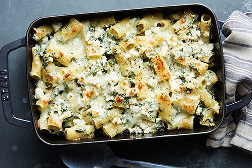 Cheesy Spinach & Feta Pasta Bake