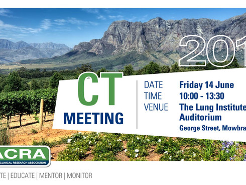 7 Days to Cape Town June 14th Meeting at the Lung Institute UCT