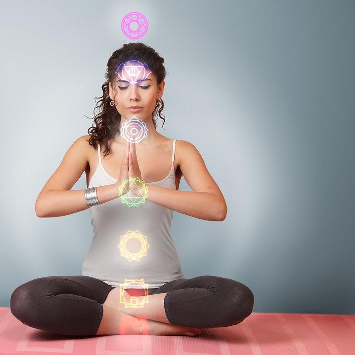 Canva - Beautiful young woman doing yoga