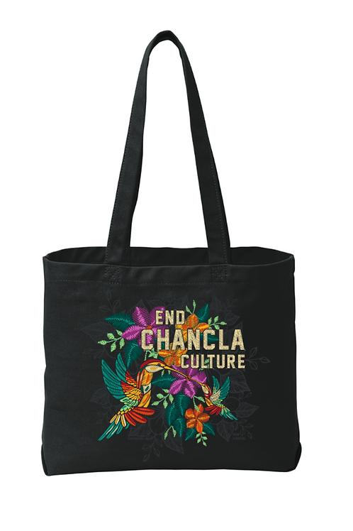 End Chancla Culture Series - Colibris Tote (Black)