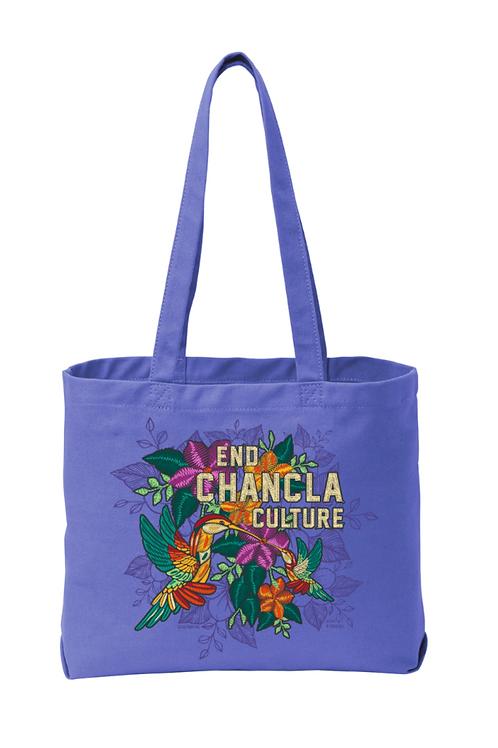 End Chancla Culture Series - Colibris Tote (Amethyst)