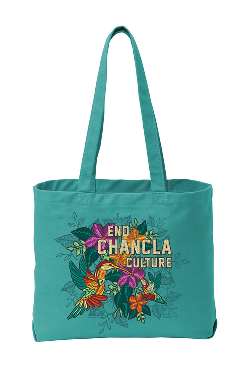 End Chancla Culture Series - Colibris Tote (Peacock)