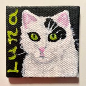Custom mini canvas magnet pet portrait