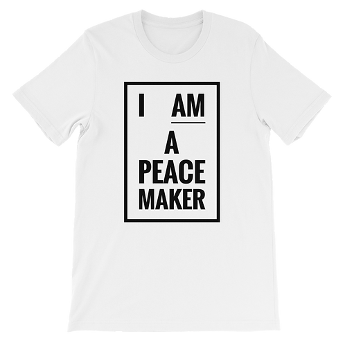 I_AM_A _PEACEMAKER Unisex short sleeve t-shirt